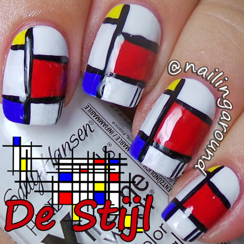 WAH Book 1 - De Stijl nail art by Belinda