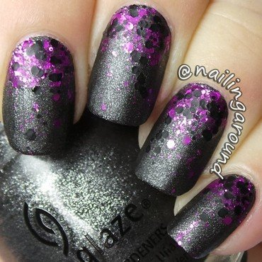Glitter Gradient nail art by Belinda