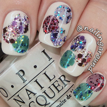 Glitter Punch nail art by Belinda