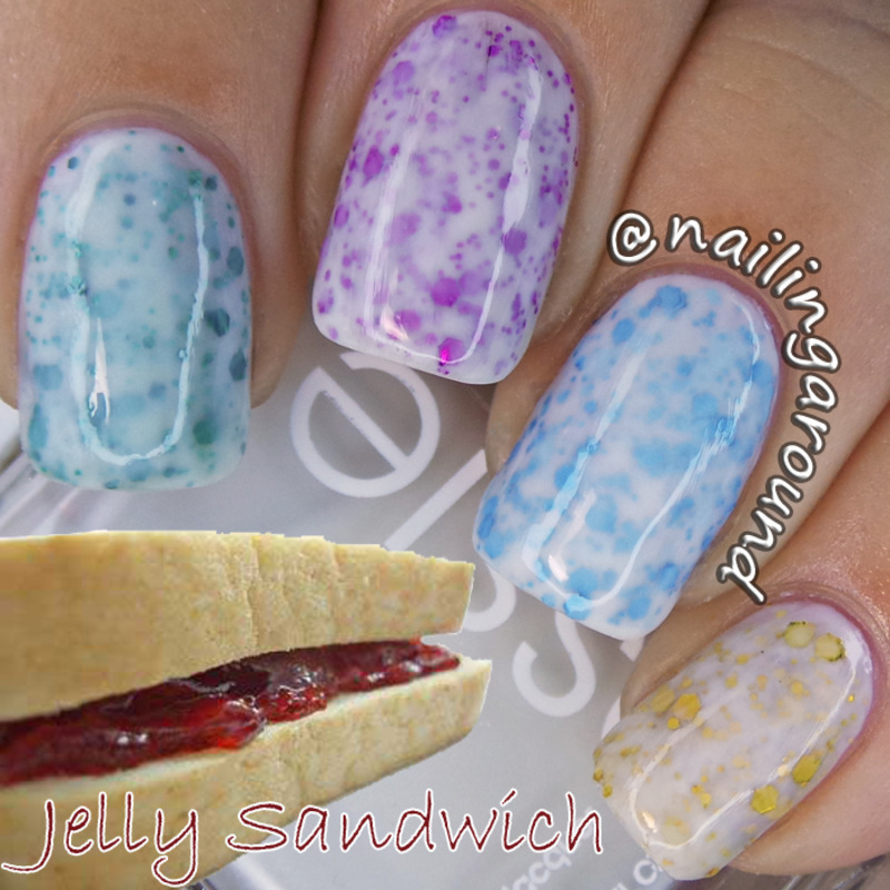 Jelly Sandwich nail art by Belinda