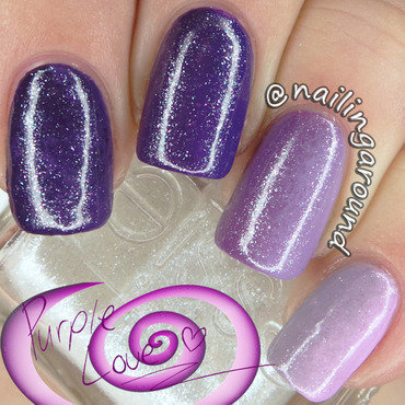 Purple Side Gradient + Ombre nail art by Belinda