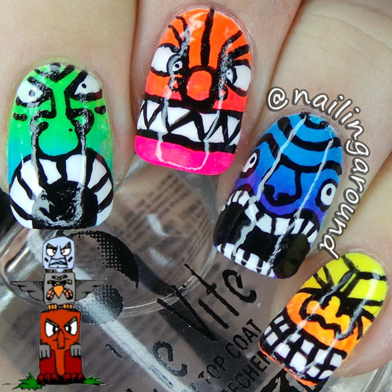 Totem nail art by Belinda