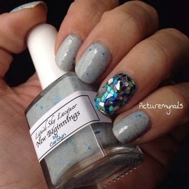 Tiffany lampshade inspired  nail art by Picture My Nails