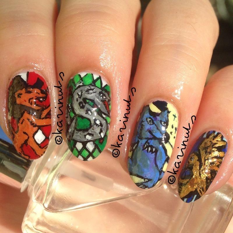 Hogwarts nail art by Karina Mahardi