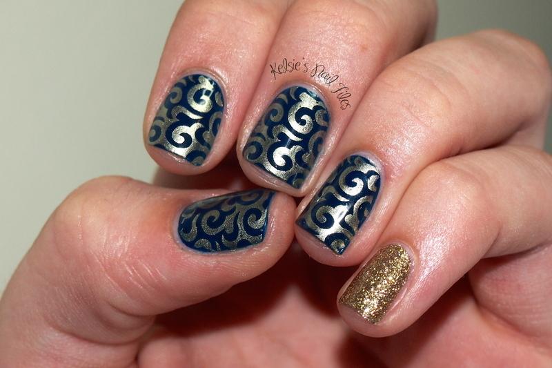 Winstonia Plate 203 nail art by Kelsie