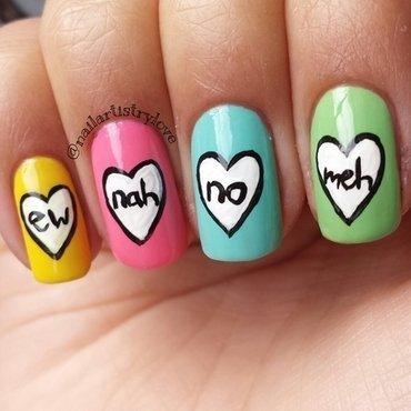 No Thanks nail art by Julia