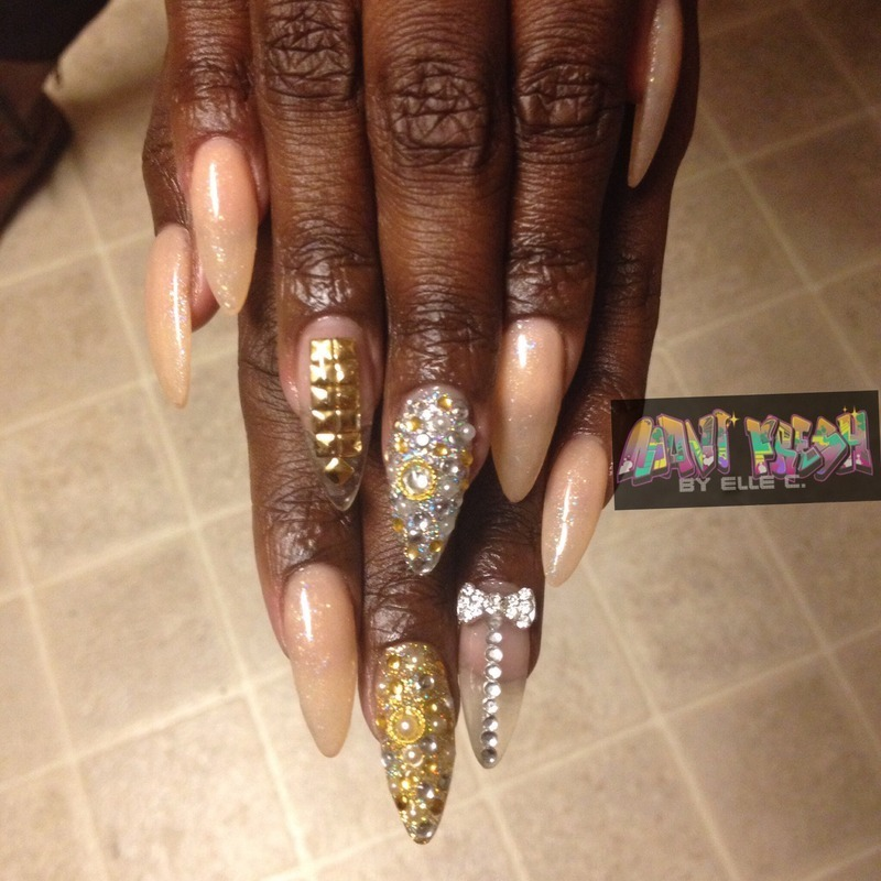 New Year Bling nail art by Elle Carver