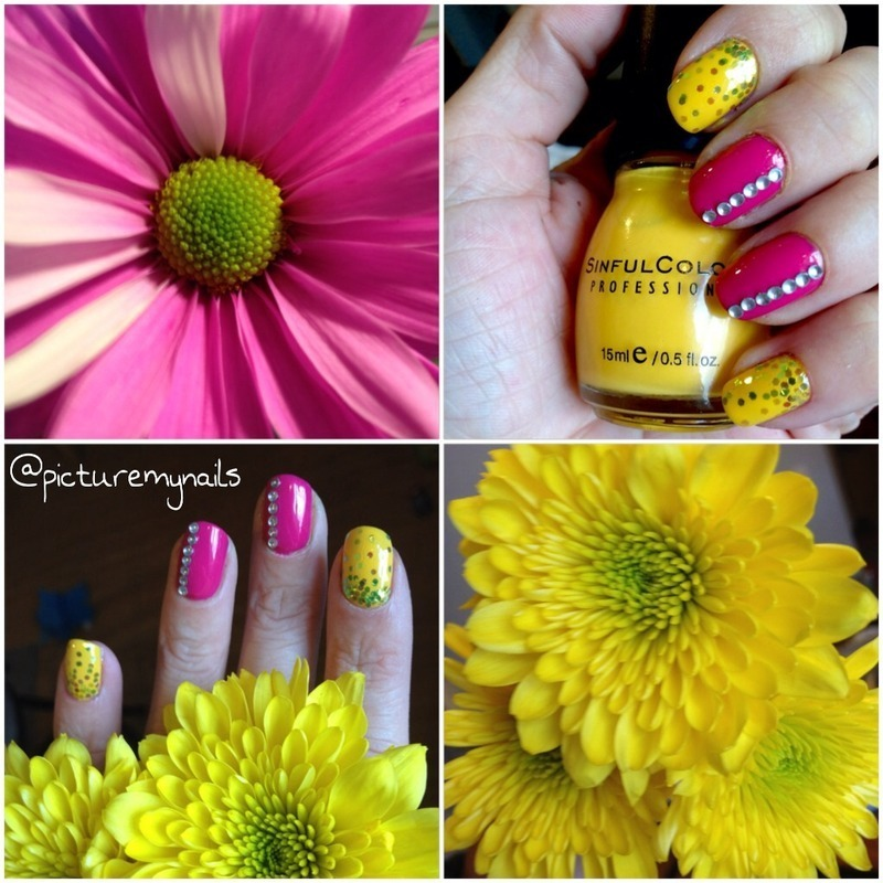 Bring Spring nail art by Picture My Nails