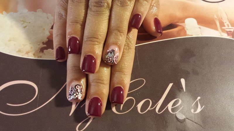 Be My Valentine  nail art by Lady NyCole