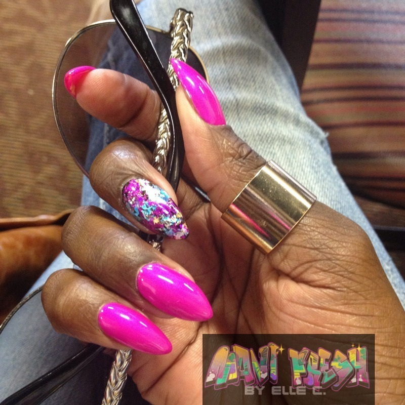 Purple Panic Mani nail art by Elle Carver