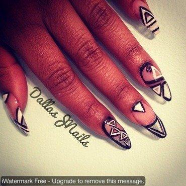 Floating abstract art!  nail art by Dallas