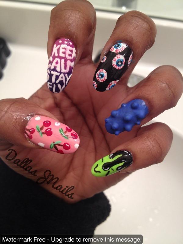 Keep Calm nail art by Dallas