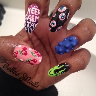 Keep Calm nail art by Dallas