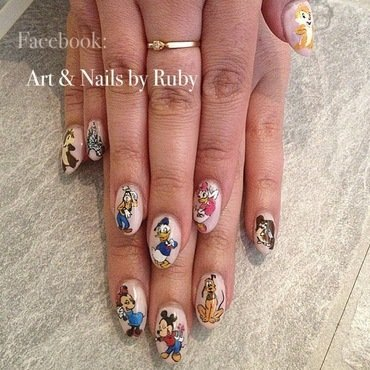 Disney  nail art by Caroline *Ruby* Ostling