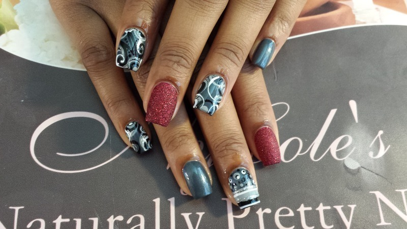 Monogram Abstract  nail art by Lady NyCole