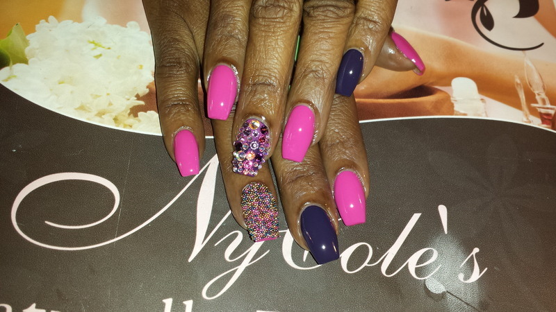 Sparkling Wine & Caviar  nail art by Lady NyCole