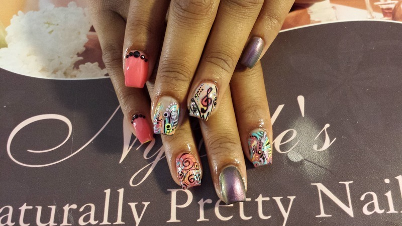 The Songstress  nail art by Lady NyCole
