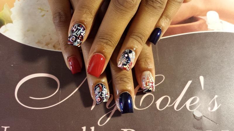 Graffiti  nail art by Lady NyCole