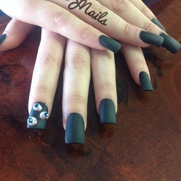 Black out  nail art by Dallas