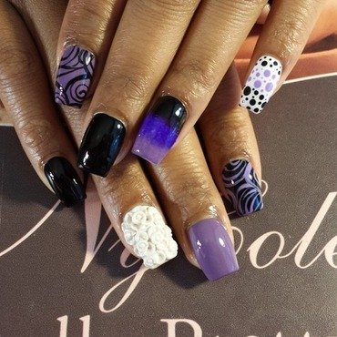 Purple w/ Passion  nail art by Lady NyCole