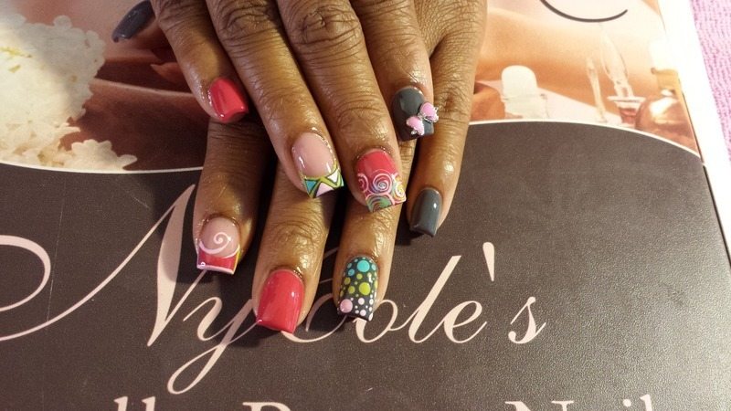 Carnival  nail art by Lady NyCole