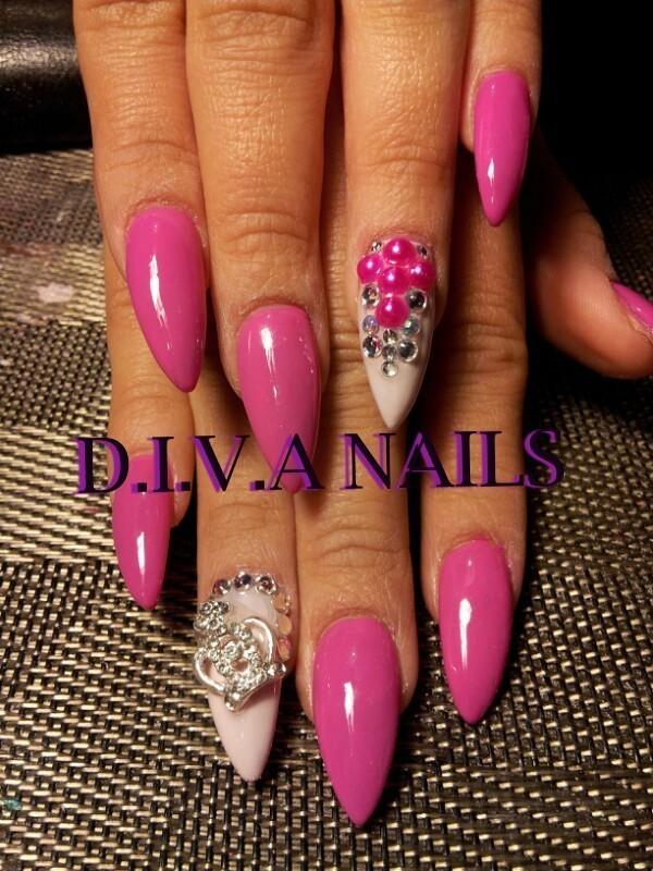 princess nail art by Adriana Avila