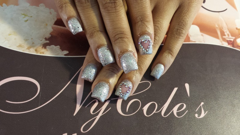 Love to Sparkle  nail art by Lady NyCole