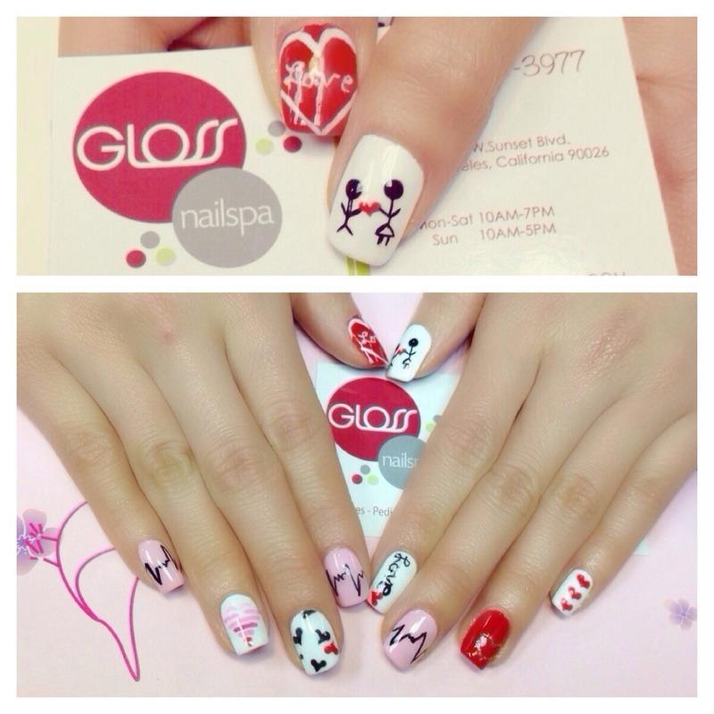 I'm in love!  nail art by Gloss Nail Spa
