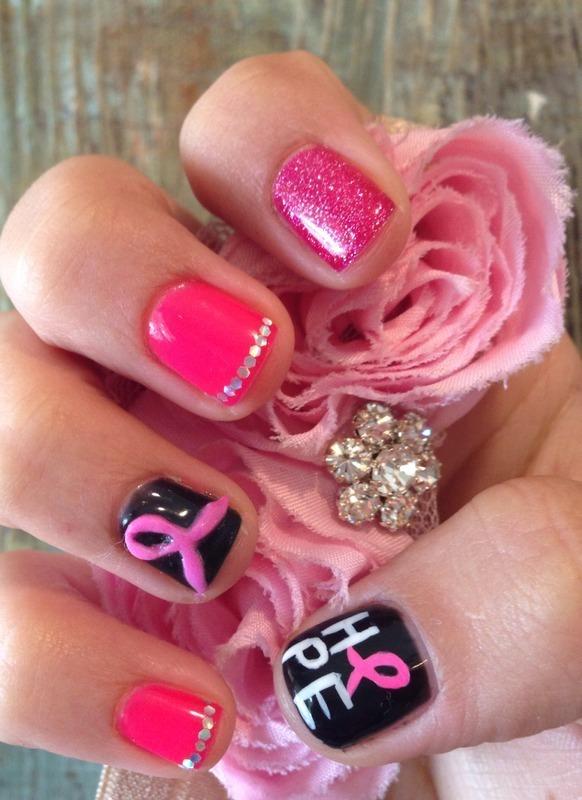 Hope!  nail art by Kristina