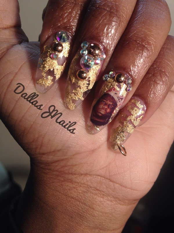 Big papa!  nail art by Dallas