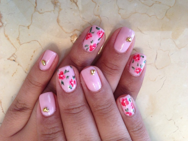 Secret garden  nail art by Kristina