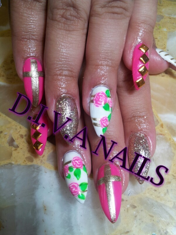 Dolled up nail art by Adriana Avila
