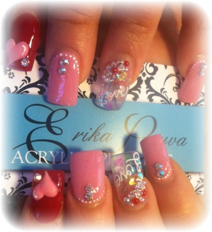 In love nail art by Erika
