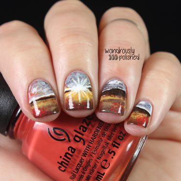 Morning Sunrise nail art by Lindsey W