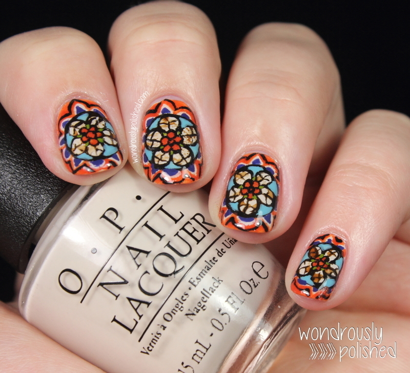 Alexander McQueen inspired Stained Glass nail art nail art by Lindsey W