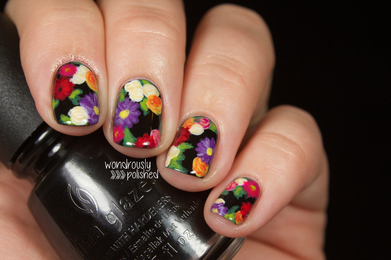 Erin Condren Planner Inspired Floral nail art by Lindsey W