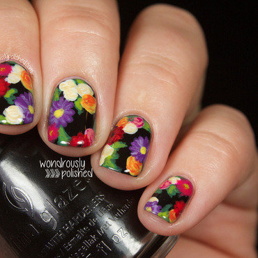 Floral nail art flowers erin condren planner 8 thumb370f