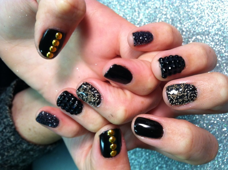 Black love nail art by Vicki