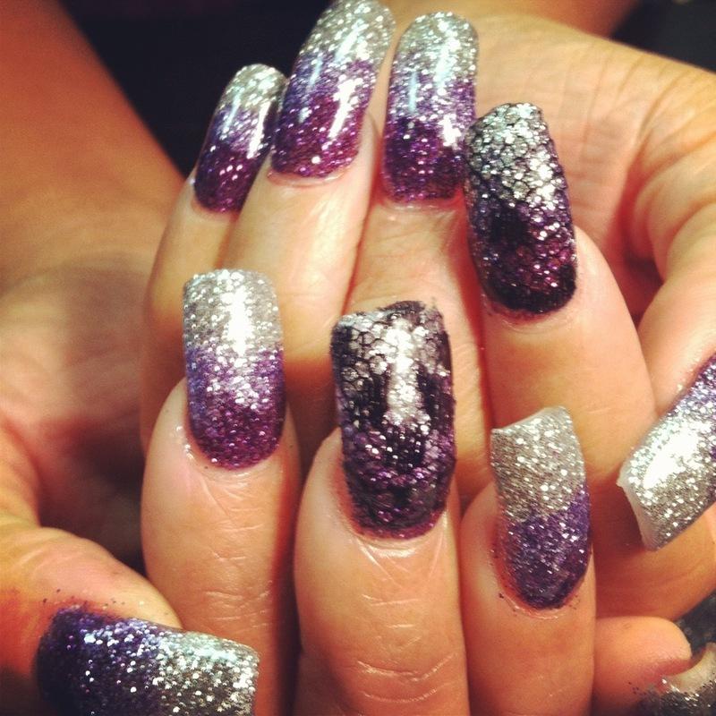Star studded NIGHT nail art by Vicki
