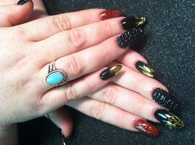 Rebel  nail art by Vicki