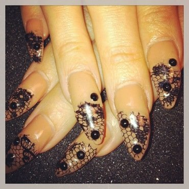 Lace it up nail art by Vicki