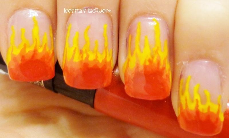 Light em' up nail art by Leesha