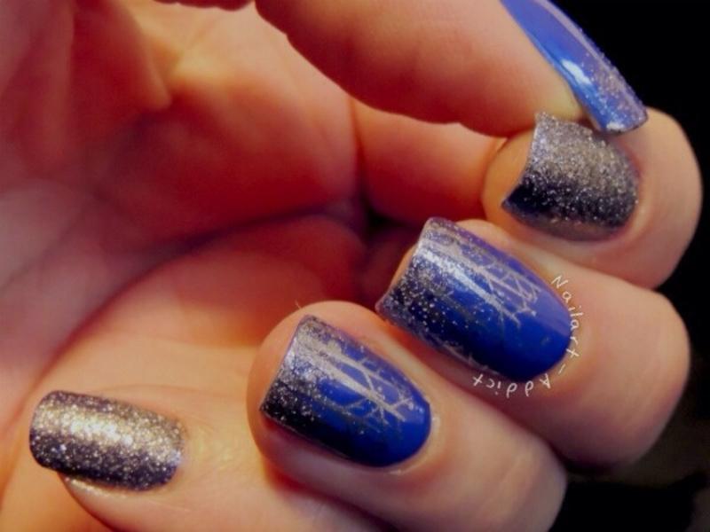 Frrrostyyy nail art by Viv