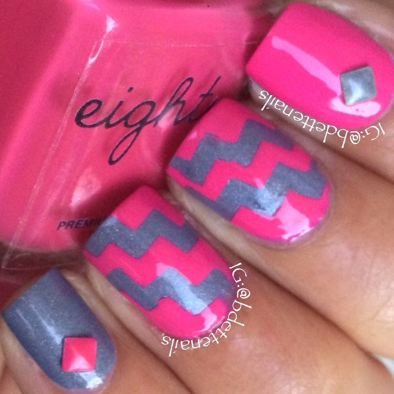 Let's Pink Our Way Out nail art by @bdettenails