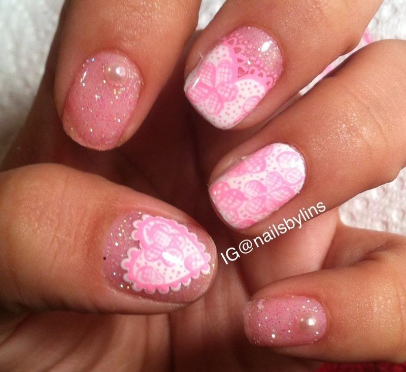 Nailsbylins nail art by Lindsey Medina
