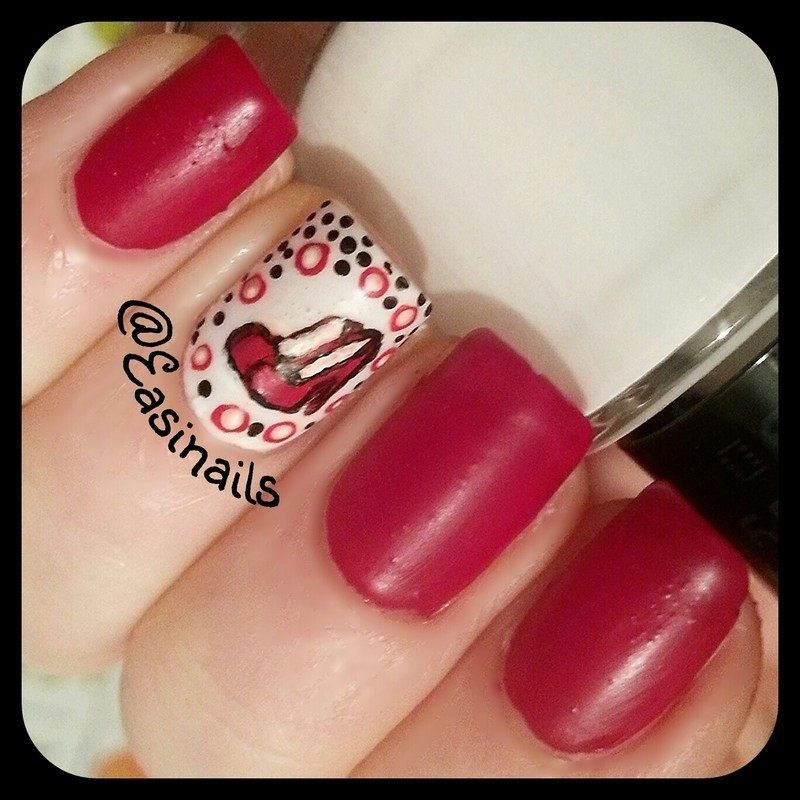 Decoltè nails nail art by Easinails