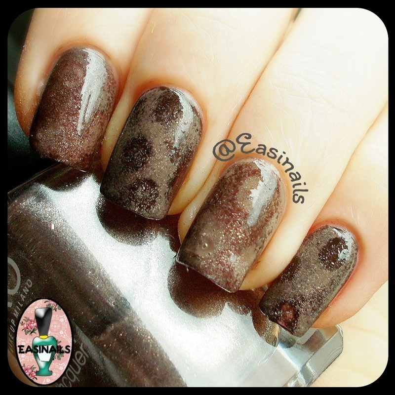 Granit rock nail art by Easinails
