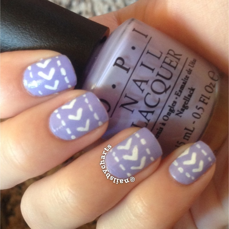 keeping it simple in purple  nail art by Claudia
