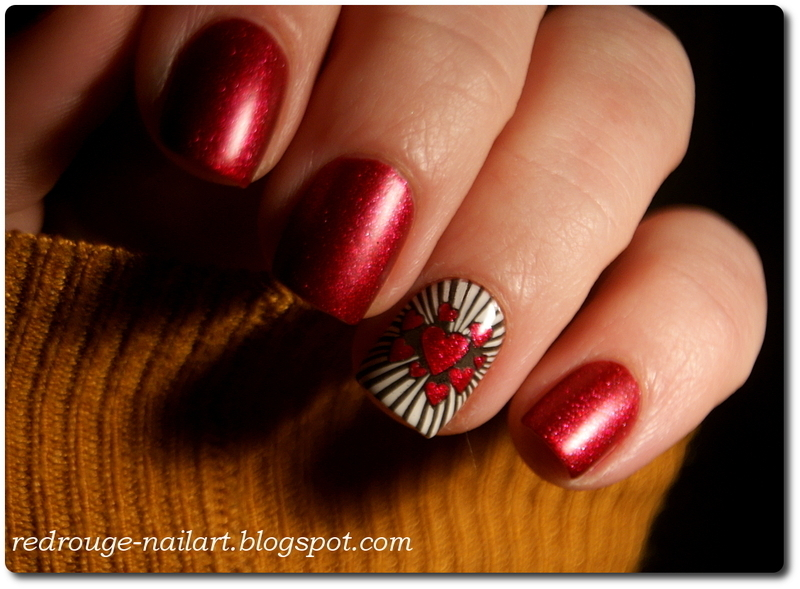 Valentines Nails nail art by RedRouge