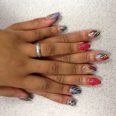 All Over the Place nail art by Nashyia